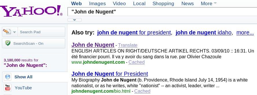 Wikipedia Biography Of John De Nugent  Supplemented